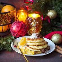 Рецепт Творожно-апельсиновых панкейки
