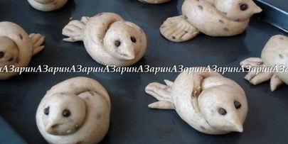 булочки жаворонки медовые