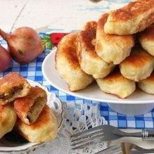 Рецепт Пирожков с грибами и картошкой жареные
